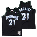 ミッチェル&ネス NBA ミネソタ・ティンバーウルブズ ケビン・ガーネット 1997-98 スウィングマン ロード ジャージー …
