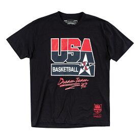 ミッチェル&ネス チームUSA(ドリームチーム)1992 ロゴTシャツ / Mitchell & Ness Team USA LOGO 1992 T shirt Black