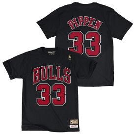 ミッチェル&ネス NBA シカゴ・ブルズ スコッティ・ピッペン ネーム&ナンバー レトロ Tシャツ (ブラック) / Mitchell & Ness Chicago Bulls Scottie Pippen Name & Number T shirt Black