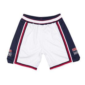 ミッチェル&ネス チームUSA 1992 オーセティック ショートパンツ (ハーフパンツ)ホワイト / Authentic Shorts Team USA ドリームチーム /