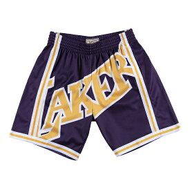 ミッチェル&ネス NBA ロサンゼルス・レイカーズ ビッグロゴ スウィングマン ショートパンツ(ハーフパンツ) / Mitchell & Ness Los Angeles Lakers Big Face Swingman Short