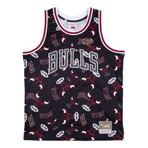 ミッチェル&ネス NBA シカゴ・ブルズ Tear up スウィングマン ジャージー 総柄ロゴ / Mitchell & Ness Chicago Bulls Tear up Swingman Jersey
