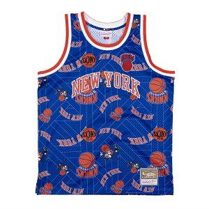 ミッチェル&ネス NBA ニューヨーク・ニックス Tear up スウィングマン ジャージー 総柄ロゴ / Mitchell & Ness New York Knicks Tear up Swingman Jersey