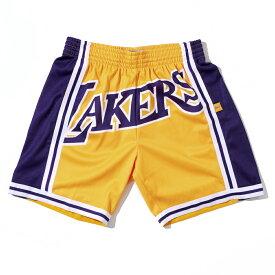 【最大1500円OFFクーポン】【楽天別注】 ミッチェル&ネス NBA ロサンゼルス・レイカーズ Blown Out ビッグロゴ スウィングマン ショートパンツ(ハーフパンツ) / Mitchell & Ness Los Angeles Lakers Blown Out Big Face Fashion Shorts