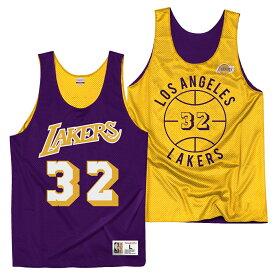 【最大1500円OFFクーポン】ミッチェル&ネス NBA ロサンゼルス・レイカーズ マジック・ジョンソン リバーシブル ジャージー メッシュ プラクティスタンクトップ / Mitchell & Ness Reversible Tank Update - Los Angeles Lakers Magic Johnson