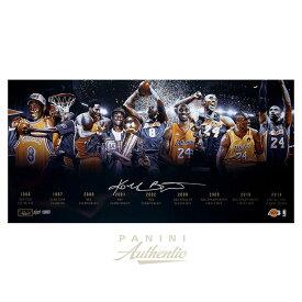 """コービー・ブライアント 直筆サイン入り 16×32インチ フォト ポスター 世界124枚限定生産 【フレームなし】/ Kobe Bryant Autographed 16x32 """"Timeline"""" Photograph / Panini NBA メモラビリア"""