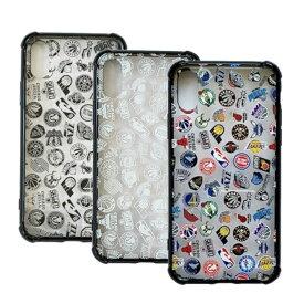 NBA ALL OVER ロゴ iPhoneX/XS クリアケース (カラー、ホワイト、ブラック)ハードカバー iPhoneケース ファングッズ バスケットボール アイフォンケース アイフォンカバー スマホケース
