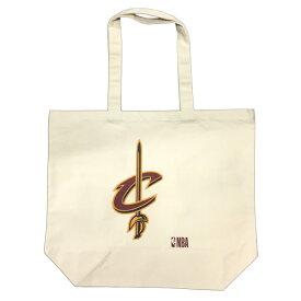 【NBA公式キャンバストートバッグ】 NBA キャバリアーズ キャンバス地 トートバッグ サイズ:L / メンズ レディース 兼用 / Cleveland Cavaliers