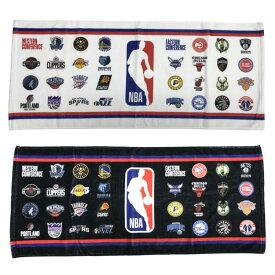 NBA ALL OVER チームロゴ フェイスタオル (ホワイト、ブラック) / スポーツタオル バスケットボール ファングッズ 吸汗速乾