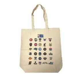 【最大650円OFFクーポン】【NBA公式キャンバストートバッグ】サイズ:M カラー:ナチュラル / メンズ レディース 兼用 / NBA ALL LOGO