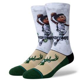 STANCE(スタンス)GIANNIS BIG HEAD ソックス NBAカジュアルコレクション / ミルウォーキー・バックス ヤニス・アデトクンボ バスケットボール バッソク メンズ 靴下