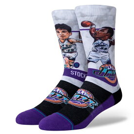 STANCE(スタンス)MALONE BIG HEAD ソックス NBAカジュアルコレクション / ユタ・ジャズ カール・マローン バスケットボール バッソク メンズ 靴下