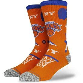STANCE(スタンス) NBA KNICKS LANDMARK ソックス NBAカジュアルコレクション / New York Knicks ニューヨーク ニックス バスケットボール バッソク メンズ 靴下