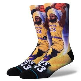 STANCE(スタンス)JAMES RISE ソックス NBAカジュアルコレクション / ロサンゼルス・レイカーズ レブロン・ジェームズ バスケットボール バッソク