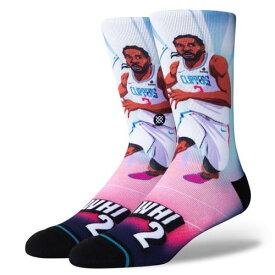 STANCE(スタンス)KAWHI RISE ソックス NBAカジュアルコレクション / ロサンゼルス・クリッパーズ カワイ・レナード バスケットボール バッソク メンズ 靴下
