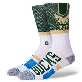 STANCE(スタンス)BUCKS SHORTCUT 2ソックス NBAカジュアルコレクション / ミルウォーキー バックス スポーツスタイル ファッション 靴下 バスケットボール / メンズ