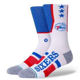 STANCE(スタンス)76ERS SHORTCUT 2 ソックス NBAカジュアルコレクション / フィラデルフィア・76ers スポーツスタイル ファッション 靴下 バスケットボール / メンズ