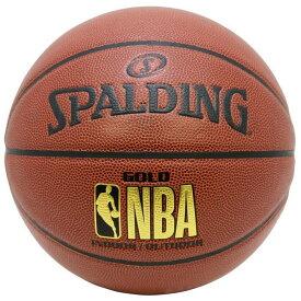 オフィシャル NBA ゴールド 合成皮革 7号球 NBAロゴ入り Spalding(スポルディング) / 7号 屋内用に最適 バスケットボール 76-562J