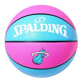 "Spalding NBA公式 バスケットボール 7号球 マイアミ・ヒート ""Miami Vice"" 合成皮革 / Miami Heat 屋内用に最適 スポルディング"