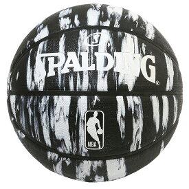 Spalding(スポルディング) NBA マーブル ブラック ラバーボール 7号球 / 7号バスケットボール