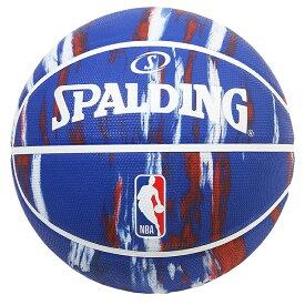 Spalding NBA公式 バスケットボール 7号球 ロゴマン マーブル ブルー /ラバーボール 屋外用に最適 スポルディング