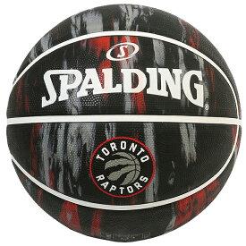 Spalding(スポルディング) NBA トロント・ラプターズ マーブル ブラック ラバーボール 7号球 / 7号バスケットボール