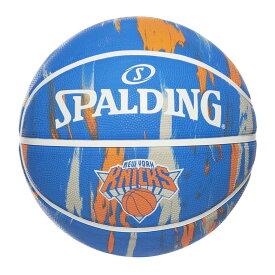 Spalding NBA公式 バスケットボール 7号球 ニューヨーク・ニックス マーブル ラバーボール / New York Knicks 屋外用に最適 スポルディング