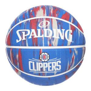 Spalding NBA公式 バスケットボール 7号球 ロサンゼルス・クリッパーズ マーブル ラバーボール / Los Angeles Clippers 屋外用に最適 スポルディング