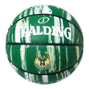 Spalding NBA公式 バスケットボール 7号球 ミルウォーキー・バックス マーブル ラバーボール / Milwaukee Bucks 屋外用に最適 スポルディング