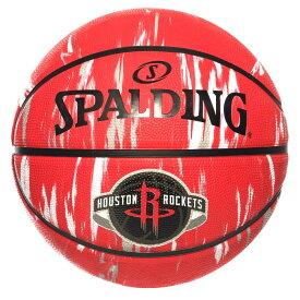 Spalding NBA公式 バスケットボール 7号球 ヒューストン・ロケッツ マーブル ラバーボール / Houston Rockets 屋外用に最適 スポルディング