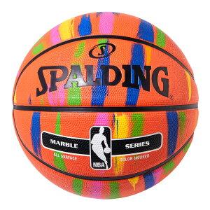 Spalding NBA公式 バスケットボール 7号球 マーブルレインボー / ラバーボール 屋外用に最適 スポルディング