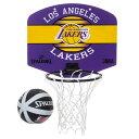 Spalding(スポルディング)NBA ロサンゼルス・レイカーズ マイクロミニボード / Los Angeles Lakers バスケットボー…