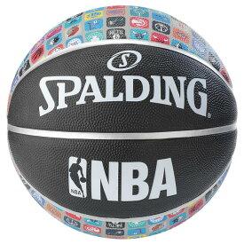Spalding NBA公式 バスケットボール 7号球 ALLチームロゴ アイコンボール /ラバーボール 屋外用に最適 スポルディング