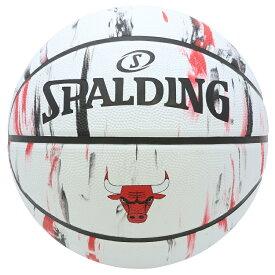 Spalding NBA公式 バスケットボール 7号球 シカゴ・ブルズ マーブル /ラバーボール Chicago Bulls 屋外用に最適 スポルディング