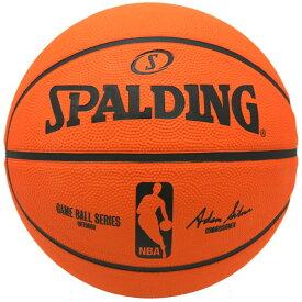 Spalding NBA バスケットボール 7号球 公式試合球レプリカボール / ラバーボール 屋外用に最適 スポルディング