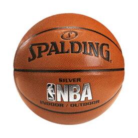 【最大650円OFFクーポン】Spalding NBA公式 バスケットボール 7号球 オフィシャル シルバー 合成皮革 ロゴ入り / 74-556Z 屋内用に最適 スポルディング