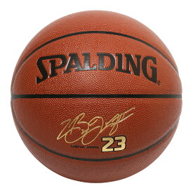 Spalding NBA公式 バスケットボール 7号球 レブロン・ジェームズ 合成皮革 / Los Angeles Lakers シグネチャーボール ロサンゼルス・レイカーズ 屋内用に最適 LeBron James スポルディング