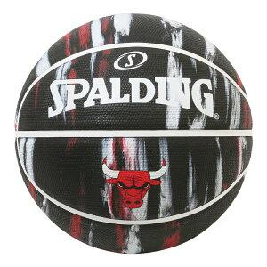 Spalding NBA公式 バスケットボール 7号球 シカゴ・ブルズ マーブル ラバーボール / Chicago Bulls 屋外用に最適 スポルディング