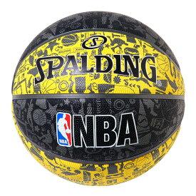 Spalding NBA公式 ラバーボール 7号球 グラフティイエロー / バスケットボール 屋外用に最適 スポルディング