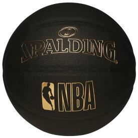 Spalding NBA公式 合成皮革 7号球 グリッターコンポジット ブラックxゴールド / バスケットボール 屋内用に最適 スポルディング
