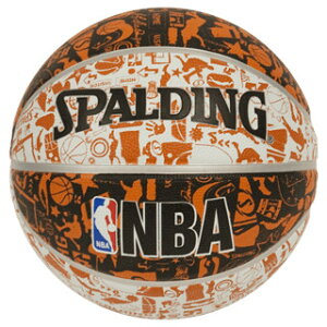 Spalding NBA公式 ラバーボール 7号球 グラフィティオレンジ / バスケットボール 屋外用に最適 スポルディング