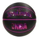 NBA公式 SPALDING 6号球 バスケットボール ホログラム ラバー ブラックレッド/ ラバー(ゴム) スポルディング