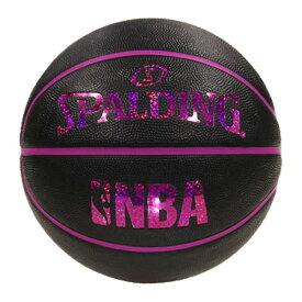 【最大650円OFFクーポン】NBA公式 SPALDING 6号球 バスケットボール ホログラム ラバー ブラックレッド/ ラバー(ゴム) スポルディング