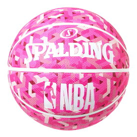 NBA公式 SPALDING 6号球 バスケットボール トパーズピンクラバー / ラバー(ゴム) スポルディング