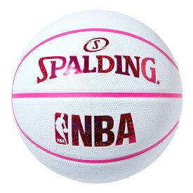 NBA公式 SPALDING 6号球 バスケットボール ホログラム ホワイト レッド ラバー / ラバー(ゴム) スポルディング