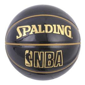 NBA公式 SPALDING 7号球 バスケットボール アンダーグラス ブラック / エナメル スポルディング