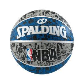 NBA公式 SPALDING 7号球 バスケットボール グラフィティ ブルー / ラバー(ゴム) スポルディング