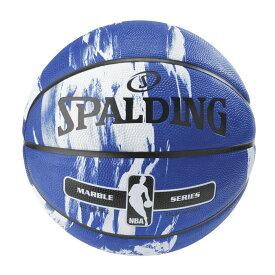 NBA公式 SPALDING 7号球 バスケットボール マーブルコレクション ブルー / ラバー(ゴム) スポルディング