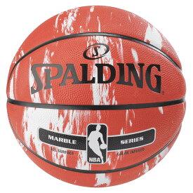 NBA公式 SPALDING 7号球 バスケットボール マーブルコレクション レッド / ラバー(ゴム) スポルディング