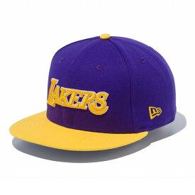 New Era (ニューエラ) NBA 9FIFTY キャップ ロサンゼルス・レイカーズ Los Angeles Lakers パープルーx fa5d36a66e59